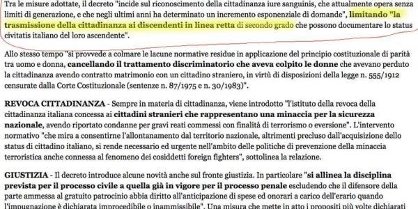 Limite De Geracoes Para A Cidadania Italiana
